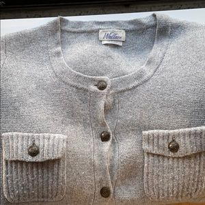 Wallace gray cardigan with decorative buttons